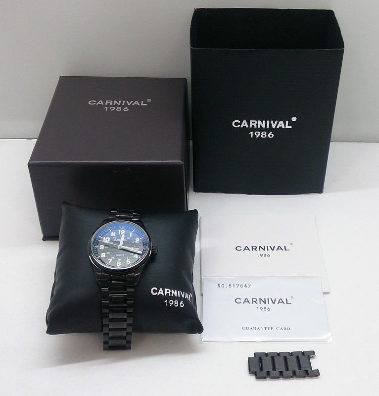 【中古】Carnival 1986 Quartz Watch カーニバル クォーツ 腕時計 No.8638G メンズ