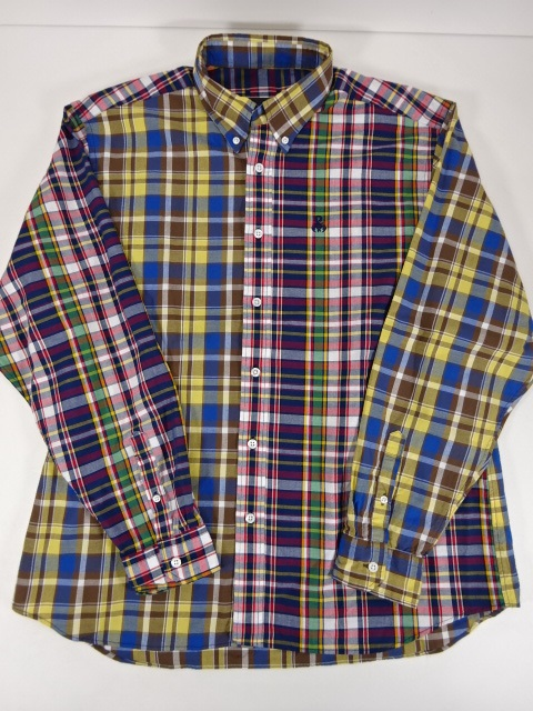 SOPHNET. ソフネット 20SS STANDARD BIG B.D SHIRT スタンダード ビッグ ボタンダウンシャツ SIZE:XL チェック スコーピオンロゴ刺繍 SOPH-200050