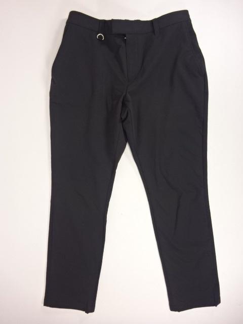 SOPHNET. ソフネット 20SS STRETCH DOUBLE CLOTH WAIST SHIRRING SLACKS ストレッチダブルクロスシャーリングスラックス SIZE:L ブラック 黒 ナイロンパンツ ボトム SOPH-200005
