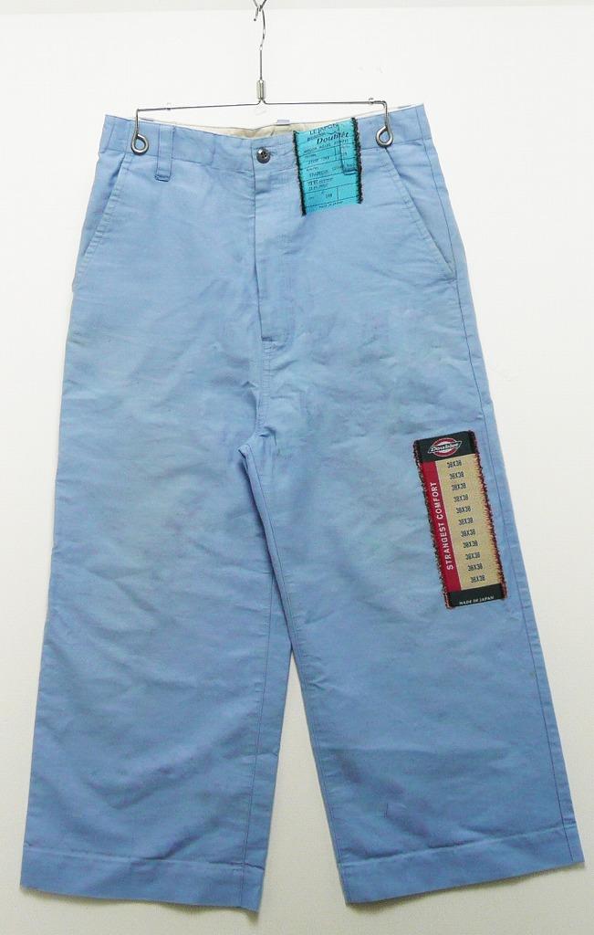 doublet ダブレット 18SS FLASHER JACQUARD PANTS SIZE:S パッチワーク ワイドパンツ 水色 ブルー サックス パンツ メンズ 【中古】【ドメスティック】【金沢本店 併売品】【6501132Kz】