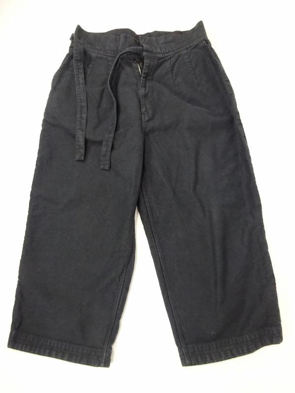 Porter Classic ポータークラシック 17AW MOLESKIN PANTS コットンモールスキンチャイナパンツ SIZE:2 ブラック 黒 ワイド ボトム 【中古】【モード・セレクト】【金沢本店 併売品】【6701748Kz】