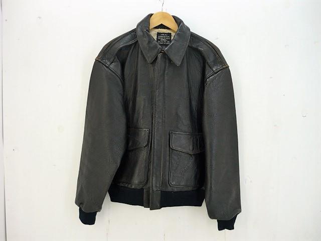 【値下げ】AVIREX A-2 レザーフライトジャケット size:M アヴィレックス ブラック 星条旗 30-1415 1978-01