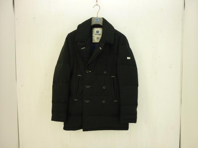 SAMAS ダウンPコート size:48 サマス ヘリンボーン ブラック ハンガーあり
