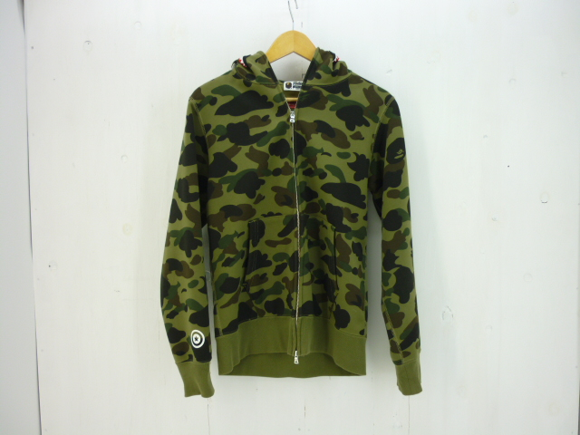 A BATHING APE GORE-WINDSTOPPER シャークパーカー size:M アベイシングエイプ カモフラ ゴアウインドストッパー
