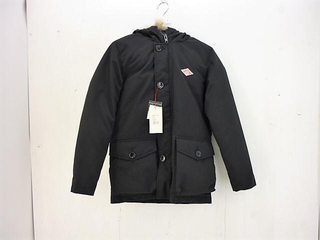 値下げしました DANTON ファー付きダウンジャケット size:34 ダントン DOWNJACKET ブラック タグ付き