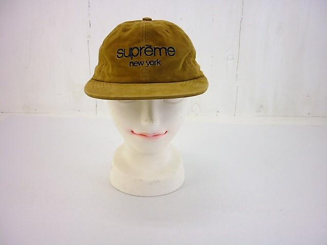 SUPREME 16SS スウェードクラシックロゴCAP  シュプリーム CLASSICLOGO ベージュ
