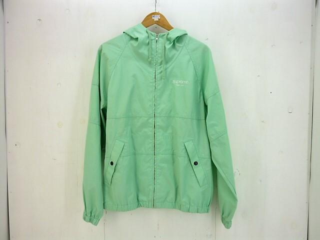 SUPREME 18SS Cotton Hooded Raglan Jacket size:M シュプリーム ラグラン ジャケット グリーン