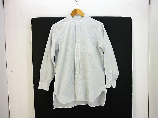 COMOLI 15SS バンドカラーストライプシャツ size:0 コモリ ホワイト