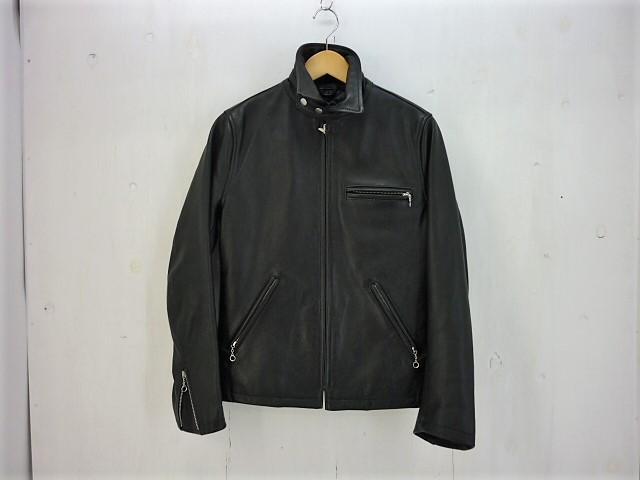 値下げしました COOL SCAT シングルレザーライダースジャケット size:38 クールスキャット ブラック 牛革