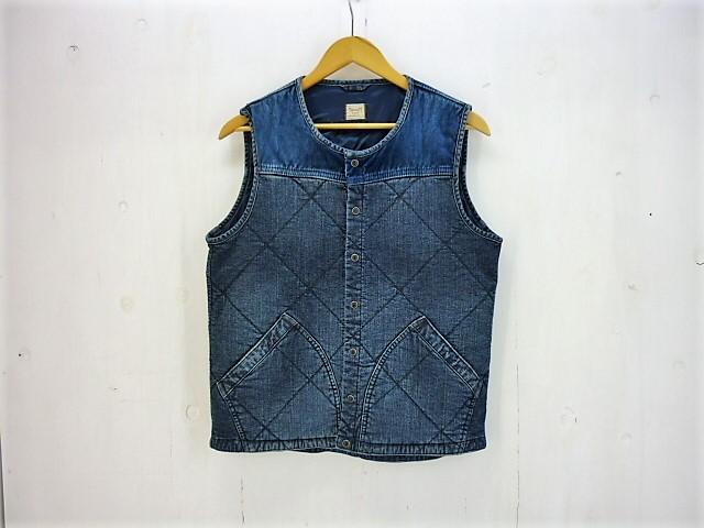 YANUK  Thermal Denim Vest size:S ヤヌーク サーマルデニムベスト コーデュロイ切り替え シンサレート THINSULATE