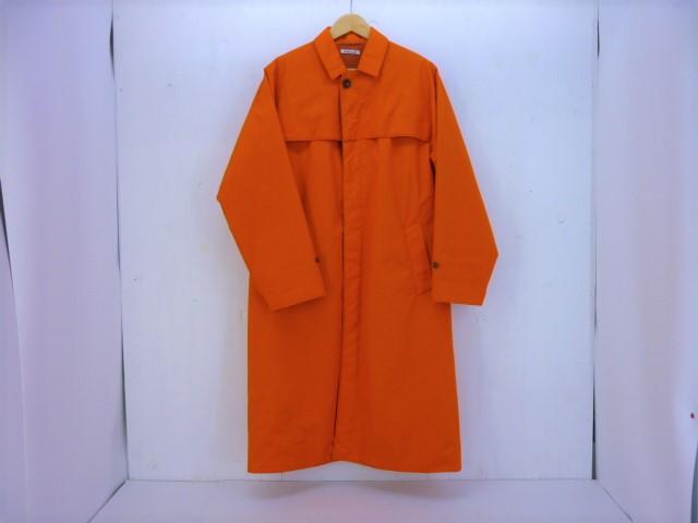 値下げしました AURALEE HIGH COUNT CLOTH COAT size:3 オーラリー ハイカウントクロスコート オレンジ ステンカラー