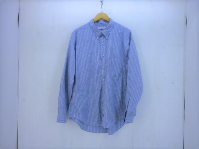 値下げしました GRAPHPAPER ストライプビッグL/Sシャツ size:3 グラフペーパー ブルー ThomasMaison トーマスメイソン