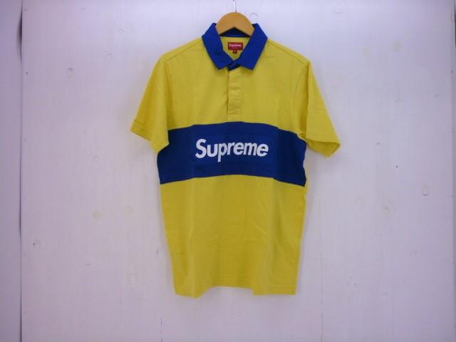 値下げしました SUPREME 16SS S/S RUGBY SHIRT size:M シュプリーム ラガーシャツ イエロー×ブルー
