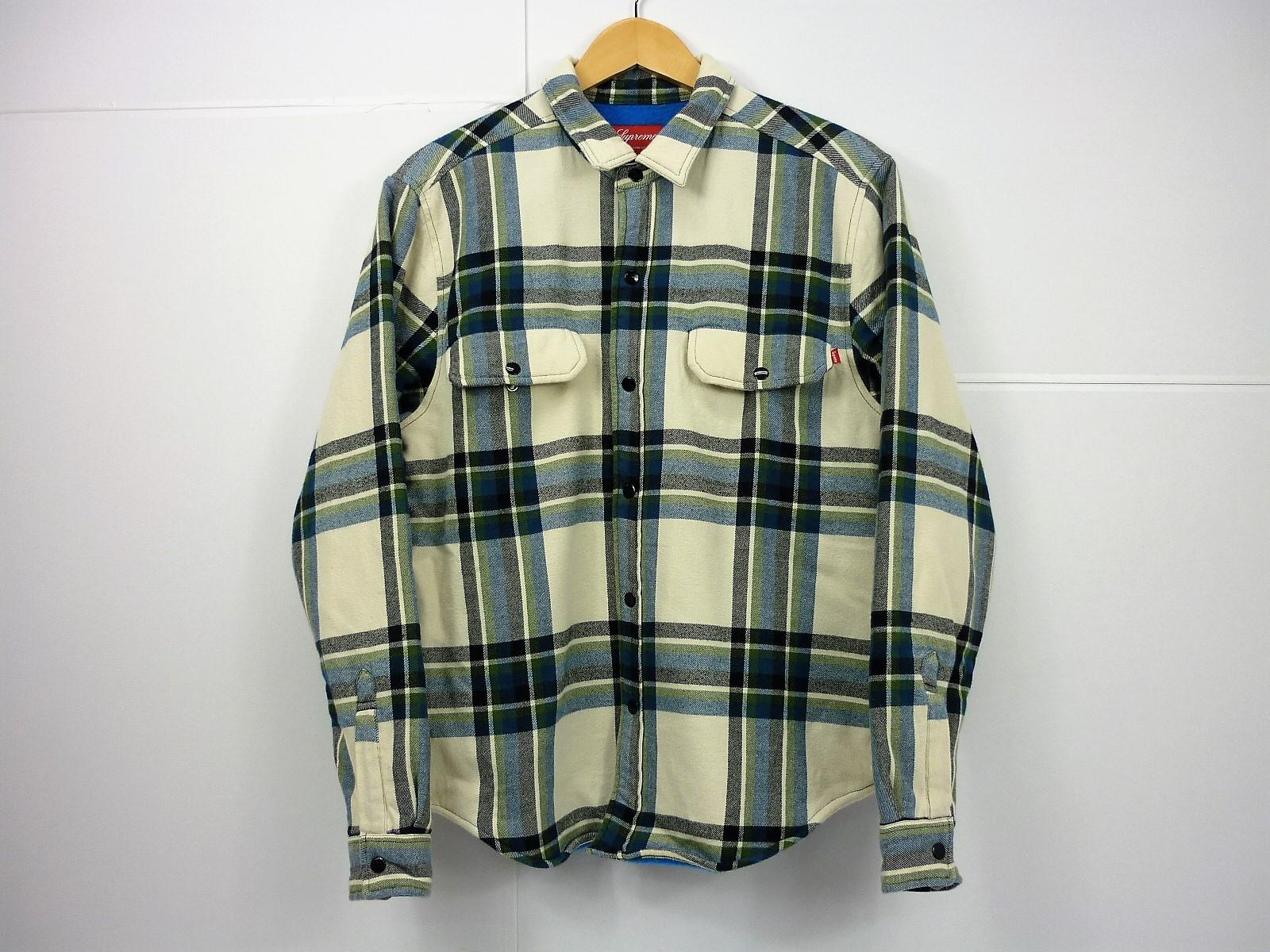 Supreme 16AW pile Lined plaid Flannel Shirt size:S シュプリーム パイルライナー チェックネルシャツ