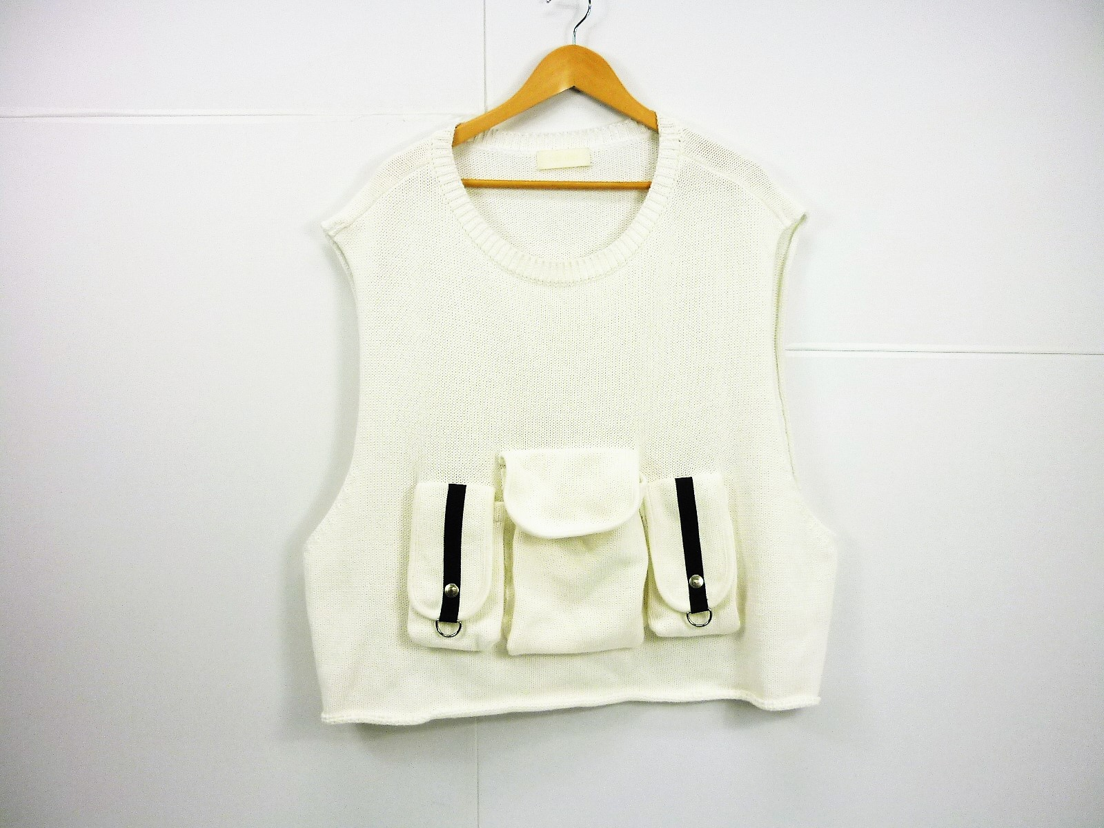 NEON SIGN BAG VEST size:46 ネオンサイン バッグベスト ホワイト 1016