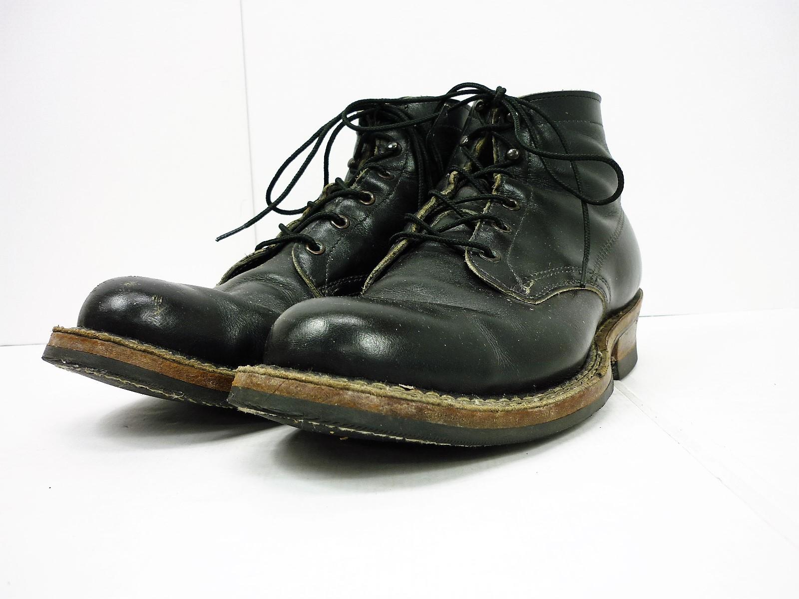 WHITE'S BOOTS 714 セミドレス レースアップワークブーツ ブラック size:9 1/2 E ホワイツブーツ