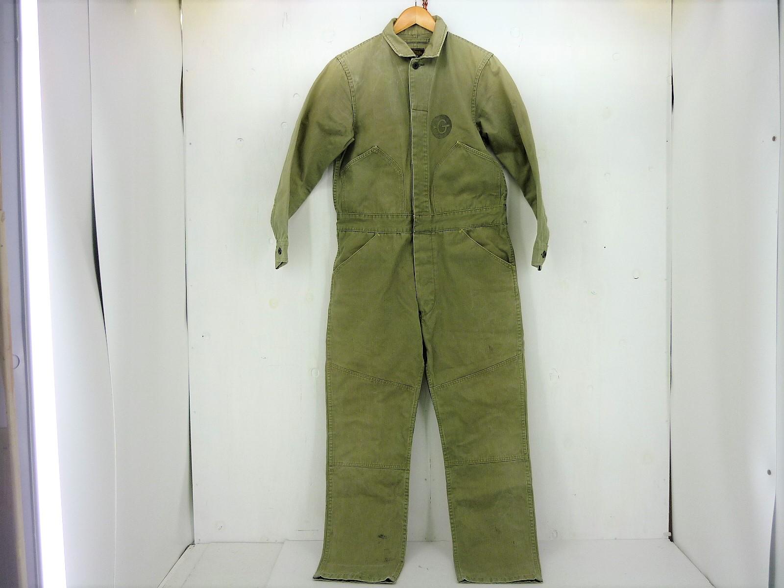 GERUGA ヘリンボーン ジャンプスーツ size:1 ゲルガ オールインワン ツナギ オリーブ