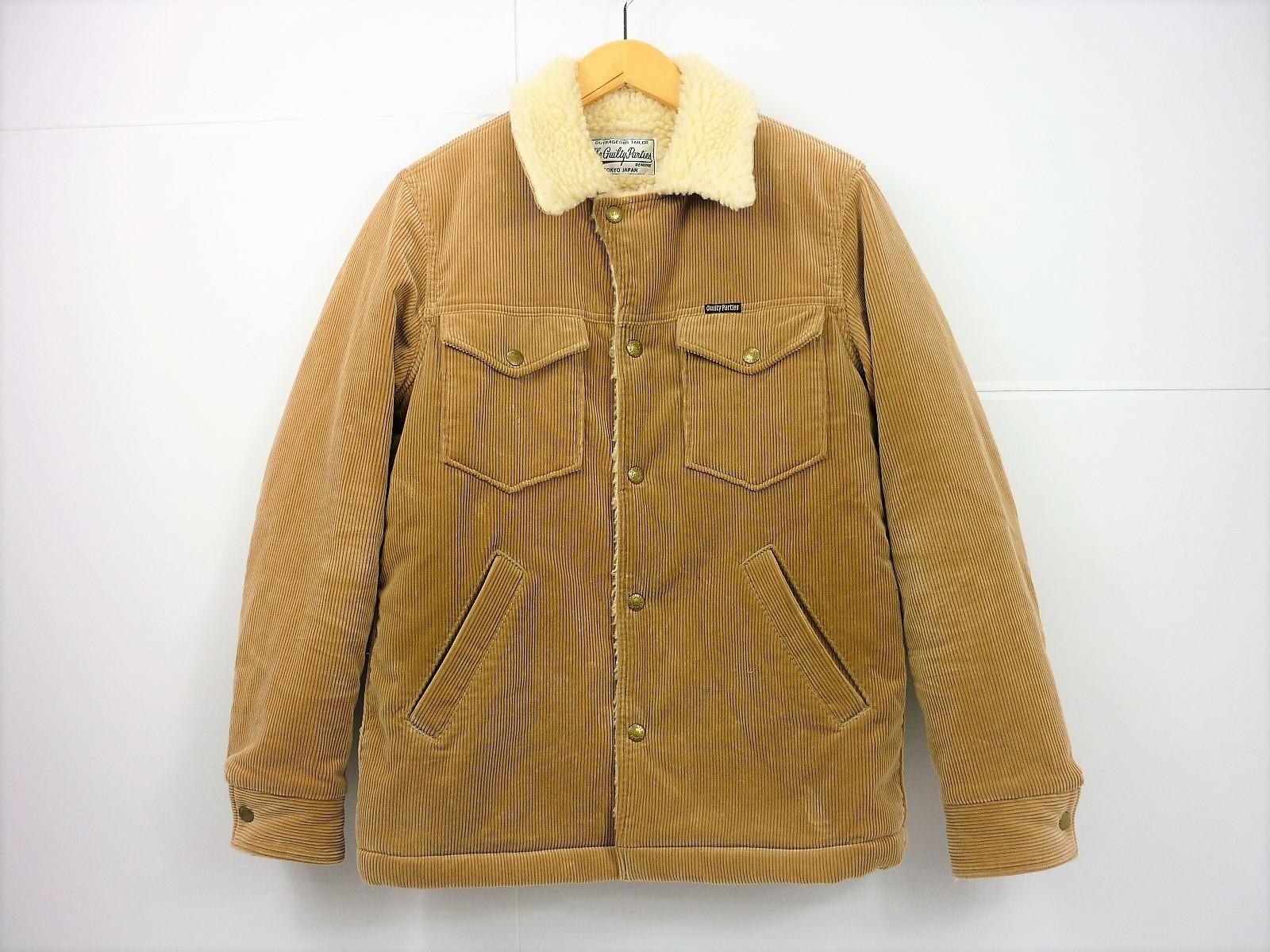 値下げしました WACKO MARIA コーデュロイランチジャケット size:S ワコマリア ベージュ ボア