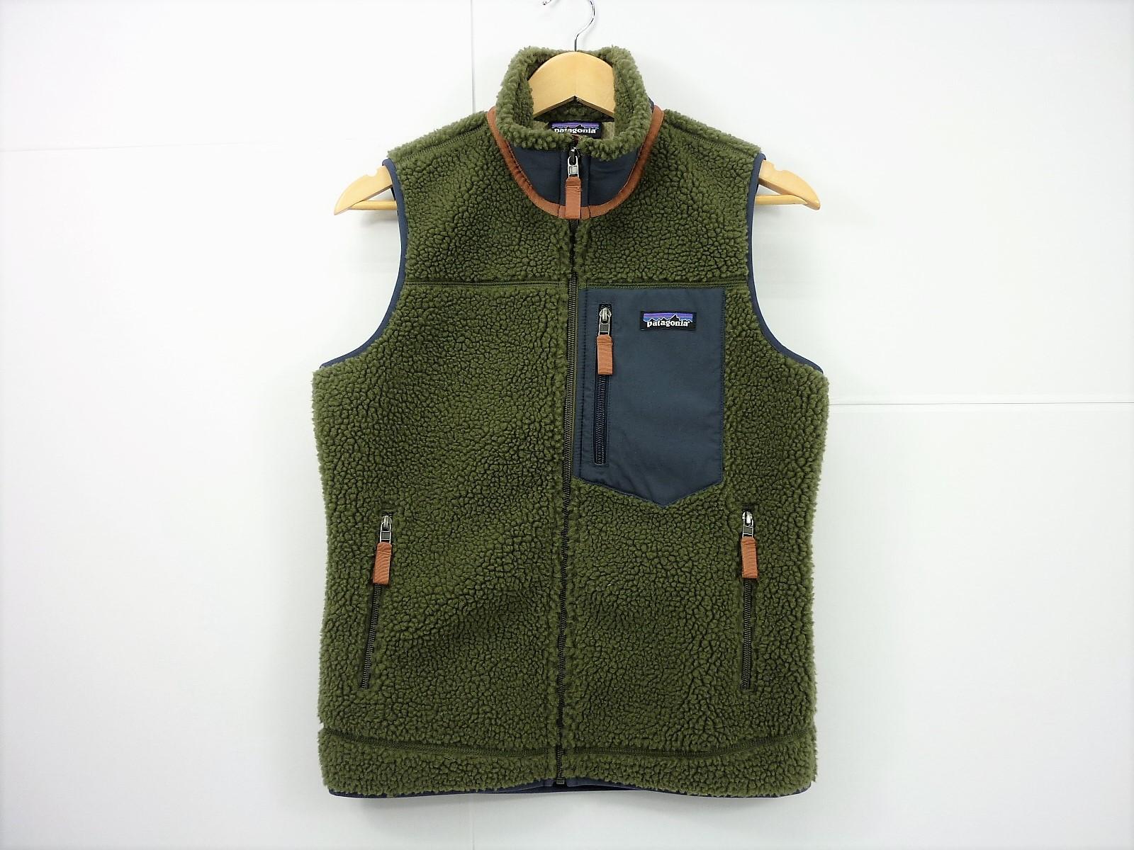 patagonia 18年 レトロ×ベスト Fleece Vest size:S パタゴニア RETORO-X オリーブ 23083