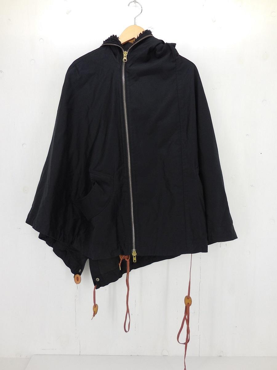 Vivienne Westwood Man フード付 ポンチョ size:46 ヴィヴィアンウエストウッド マン アシンメトリー ブラック ボア