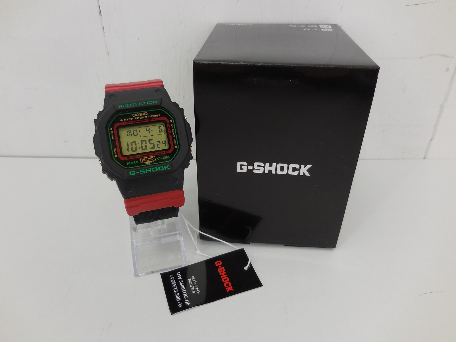 G-SHOCK DW-5600THC ジーショック ブラック×レッド ナイロンベルト