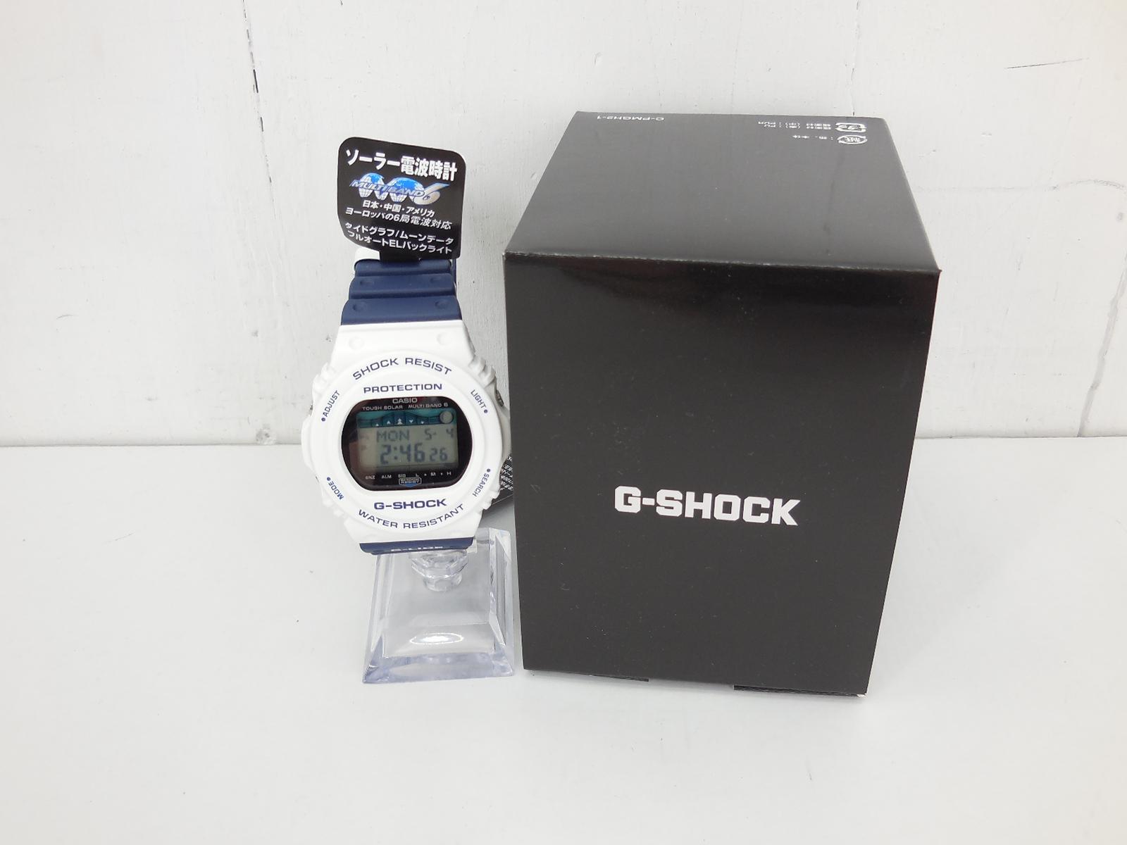 G-SHOCK GWX-5700SS-7JF ジーショック 電波ソーラー ホワイト×ネイビー 時計 ウォッチ