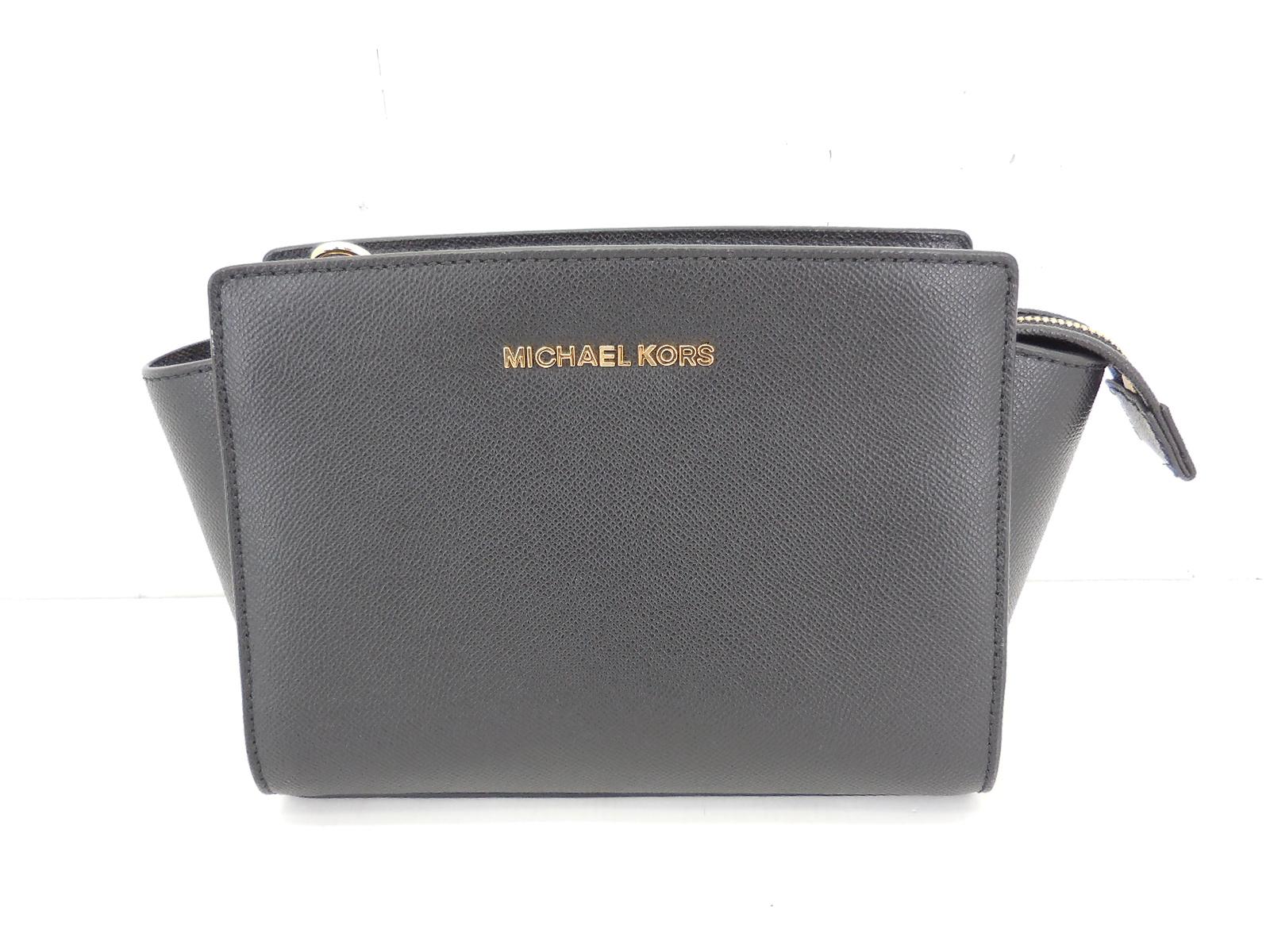 MICHAEL KORS Shoulder BAG マイケルコース ショルダーバッグ メッセンジャーバッグ ブラック 30T3GLMM2L JSB鑑定済み