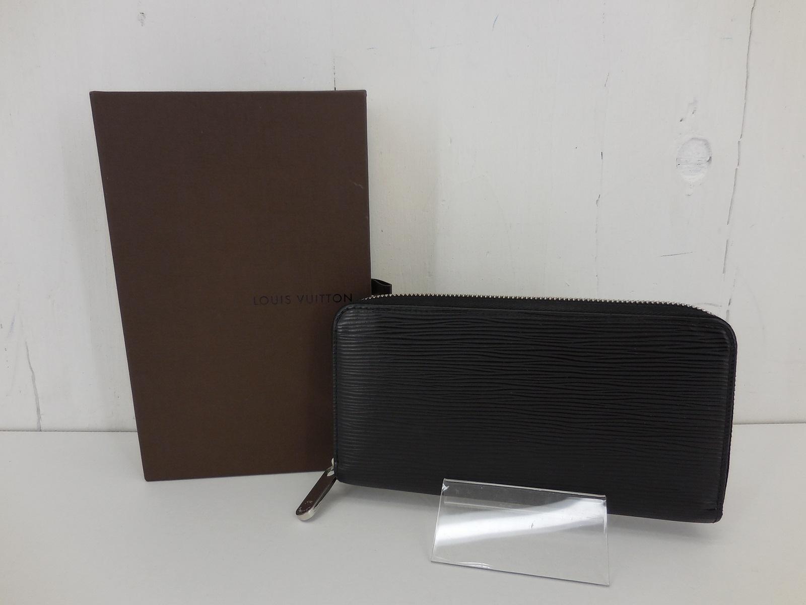 LOUIS VUITTON M61857 エピ・ノワール ジッピー・ウォレット ルイ・ヴィトン ラウンドジップ 財布 ブラック JSB鑑定済み