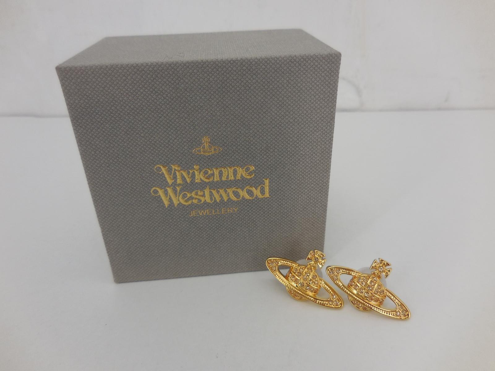 Vivienne Westwood ミニバスレリーフ ピアス ヴィヴィアンウエストウッド ゴールド