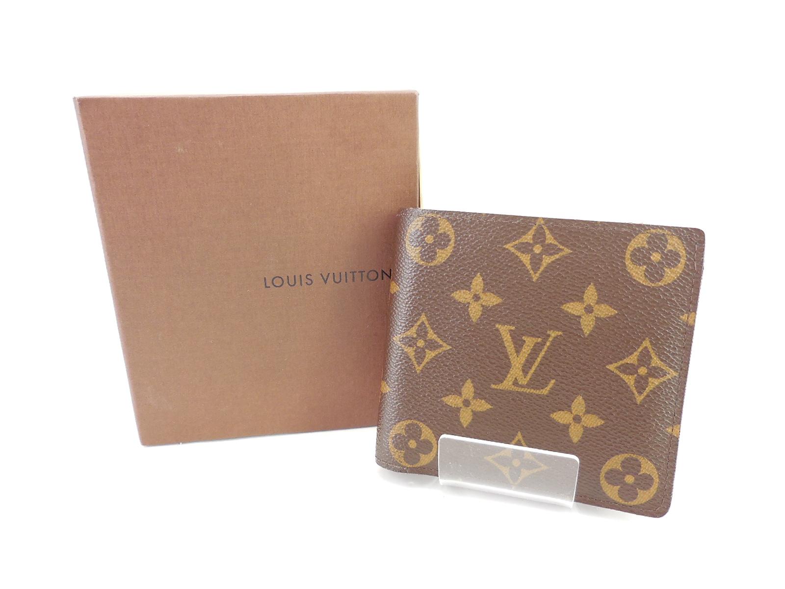LOUIS VUITTON M62288 ポルトフォイユ・マルコ ルイ・ヴィトン モノグラム 2つ折り 財布 ウォレット JSB鑑定済み