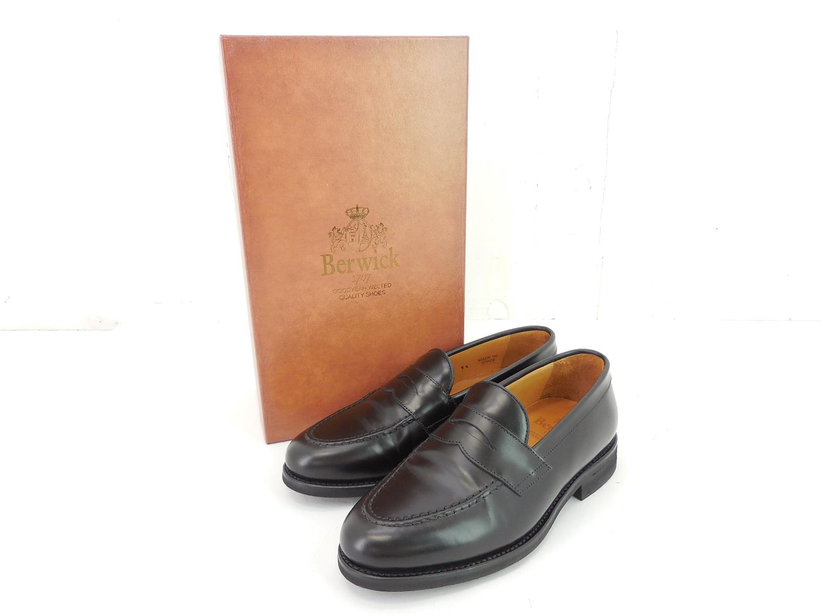 BERWICK 9628 ROIS NEGRO LEATHER LOAFER size:51/2 バーウィック レザー ローファー 靴 シューズ ブラック ビブラムソール