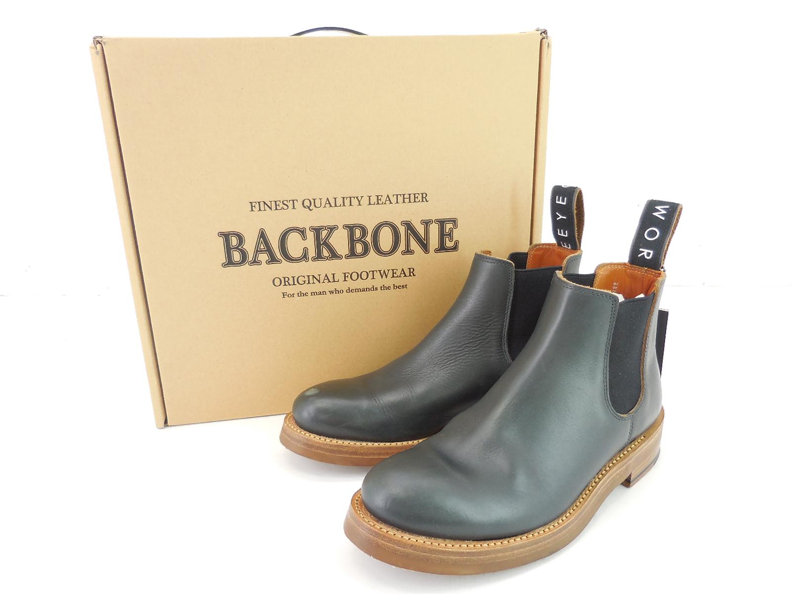 【更に値下げ】BACKBONE 18SS サイドゴアブーツ size:41(約26cm) バックボーン ネイビー ビブラムソール