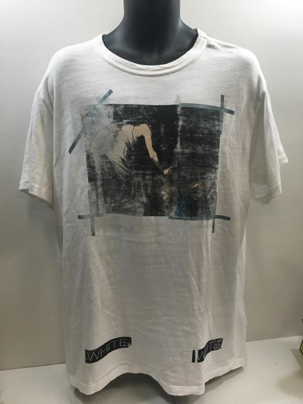 中古 OFF-WHITE オフホワイト2016SSCARAVAGGIOTEEバックバイアスフォトプリントTシャツ a1e3fb6d31c7