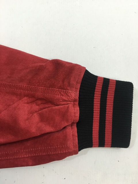 SUPREMEシュプリーム Supremeシュプリーム Suede Varsity Jacket スエード バーシティ ジャケット Pale Red パール レッド 2017SS スタジャン アワード 購入証明書付き MEDH29IWY