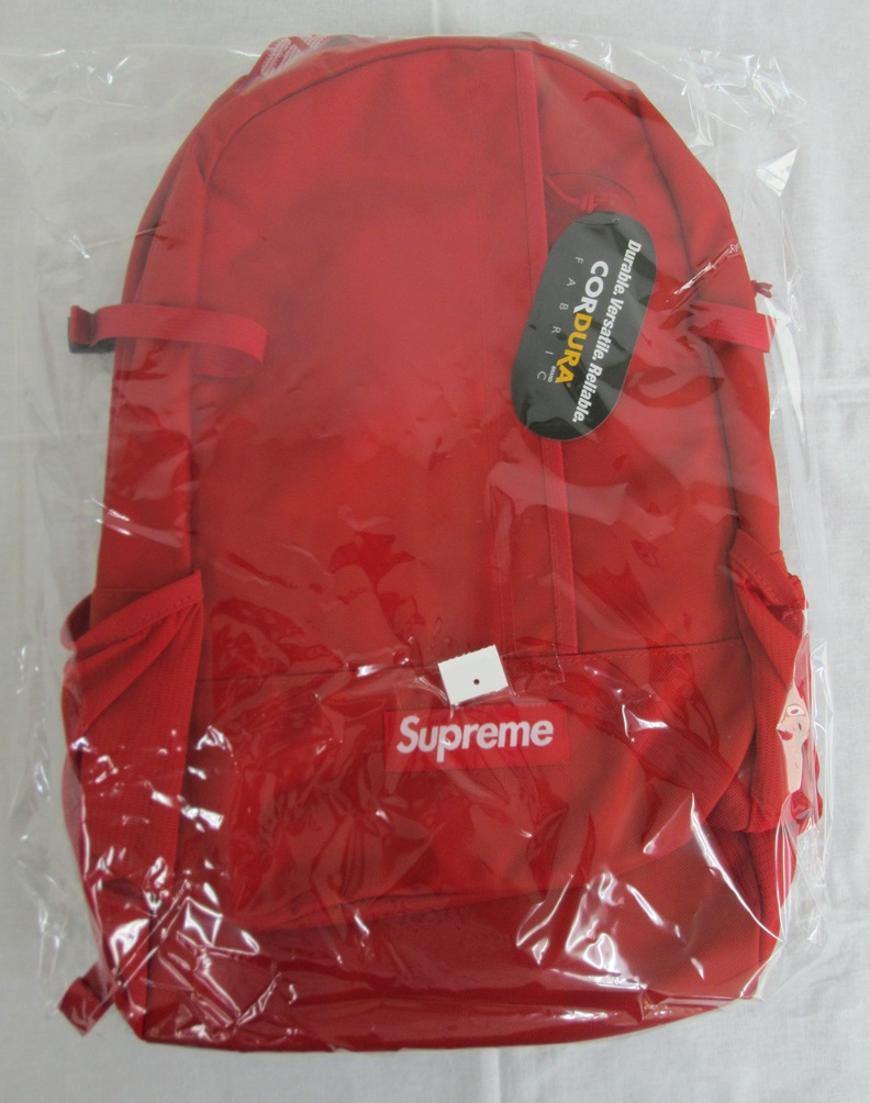 Supreme シュプリーム 18SS BACKPACK バックパックRED 未使用 半タグ付