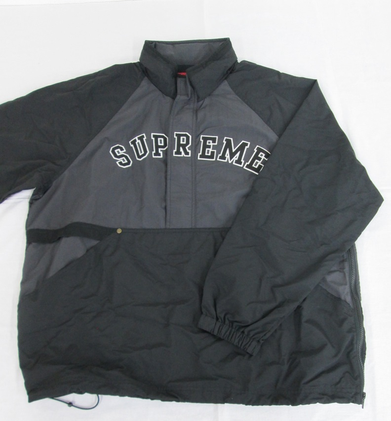Supreme シュプリーム 18SS Court Half Zip Pllover SIZE:XL BLACK