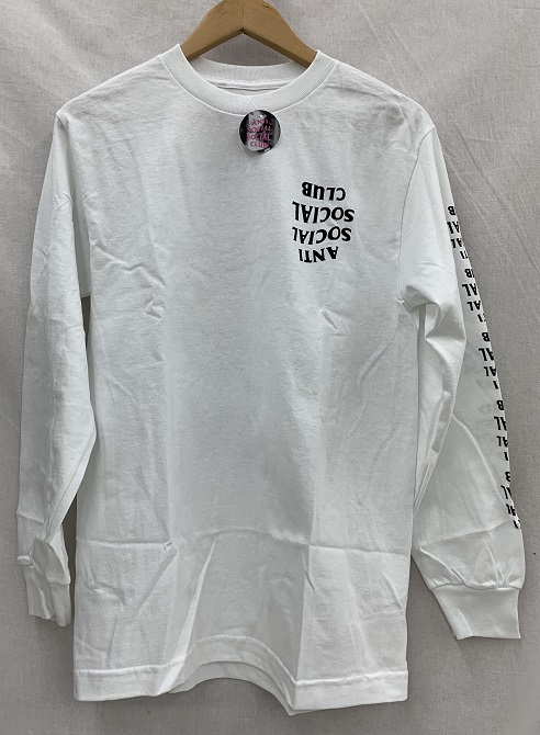 ASSC ANTI SOCIAL SOCIAL CLUBアンチソーシャルソーシャルクラブ 19SSBLACKED OUT WHITE L/S ロゴ ロンT未使用品 Size:S White