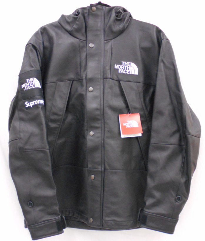 Supreme×THE NORTH FACE 18AWLeather Mountain Parkaレザー マウンテン パーカーSize:L Black