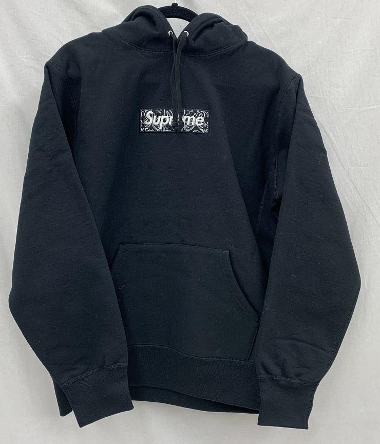 Supreme/シュプリーム 19AWBandana Box Logo Hooded Sweatshirtバンダナ ロゴ パーカー 未使用Size:M Black