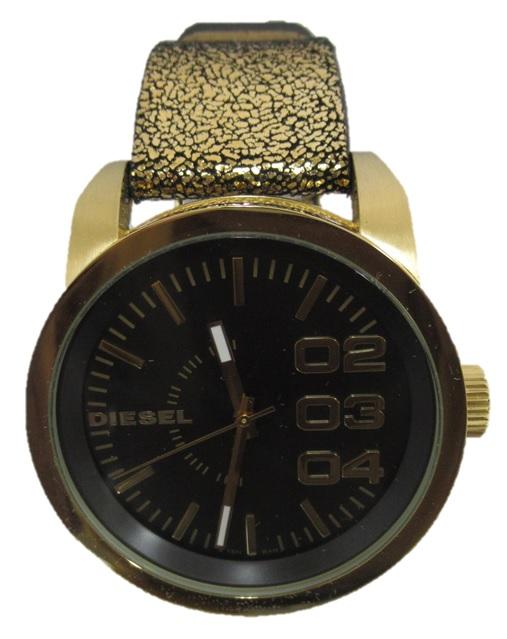 DIESEL/ディーゼルDZ-5371 腕時計 メンズ ゴールドFranchise フランチャイズ メタリック 美品