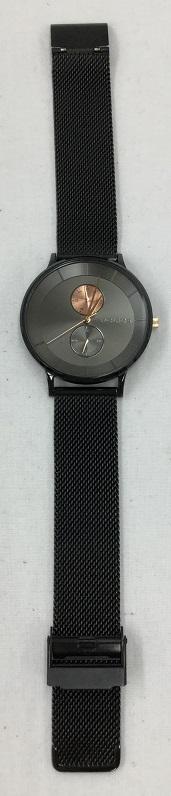 POLICE/ポリス 15402J メンズ 腕時計 メッシュベルト 北欧 BERKELEY バークレー 中古 美品 ブラック クォーツ