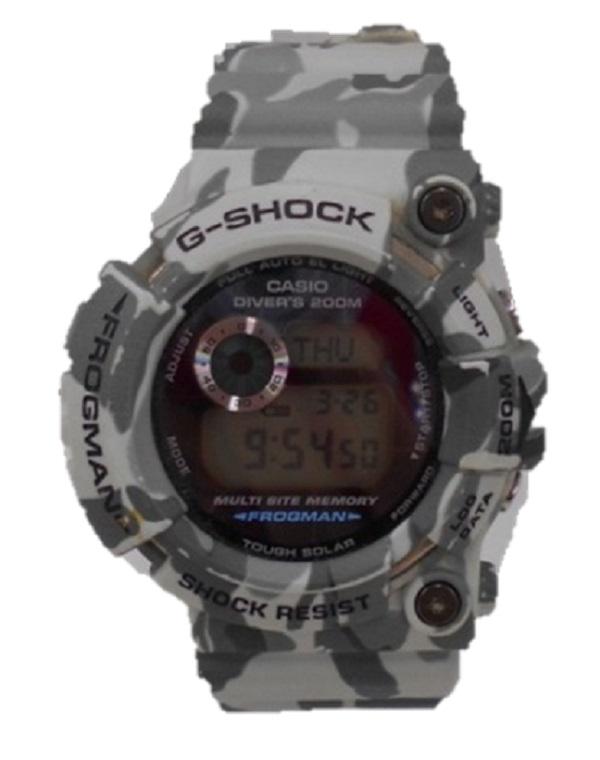 G-SHOCK/ジーショックGW-200CF FROGMAN フロッグマンBRAZILIAN ブラジリアン迷彩 ソーラー 腕時計 中古