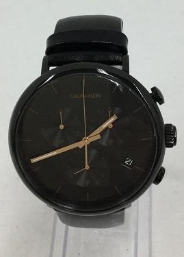 Calvin Klein/カルバンクライン K8M274 メンズ 腕時計 クロノグラフ ブラック High Noon ハイヌーン 美品