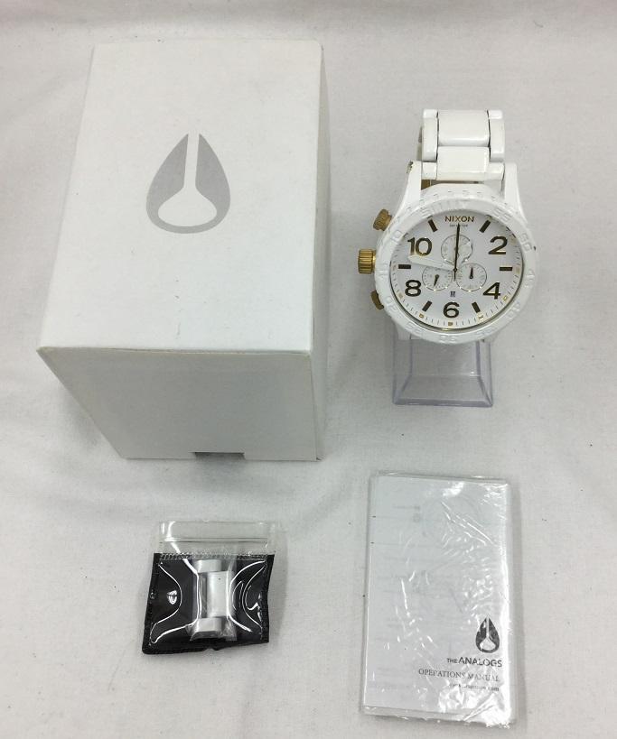 NIXON/ニクソン THE51-30 CHRONO フィフティーワンサーティー クロノグラフ メンズ 腕時計 ホワイト ゴールド 白金
