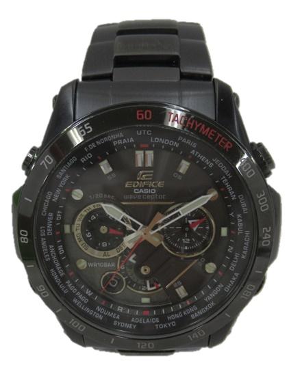 CASIO/カシオEDIFICE エディフィス EQW-M1000腕時計 メンズ ブラックソーラー 電波 メタルバンド