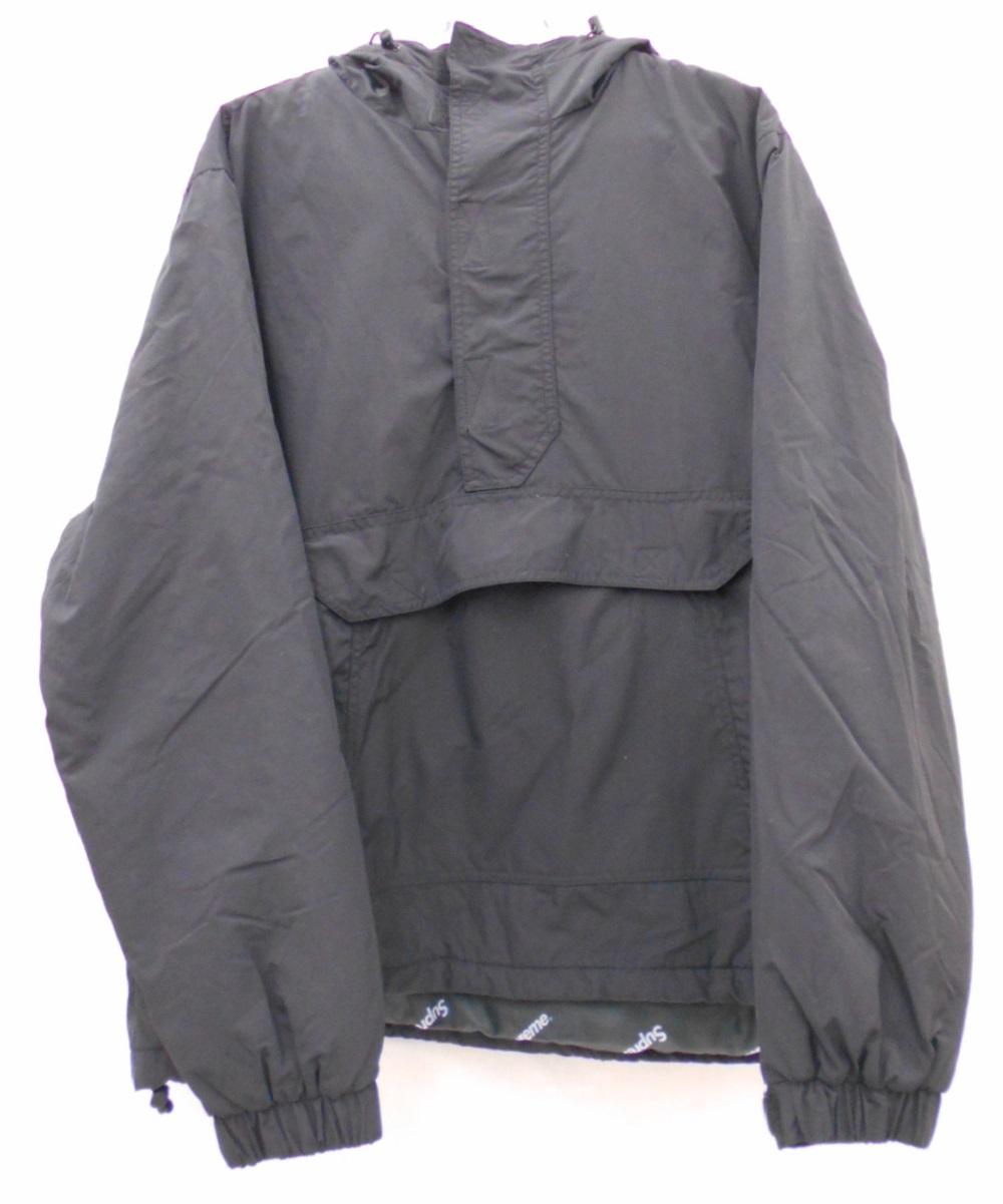【国内配送】 Suprem/シュプリーム 17AWHooded Logo Haif Zip Pulloverフードロゴ ハーフジップ プルオーバー中わた アノラック ジャケットSize:L Black, Style Edition bc81bad1