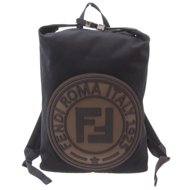 フェンディ FENDI 人気ブランド 黒色 茶色 バックパック 中古 キャンバス 期間限定今なら送料無料 レザー 7VZ044 OB0456 ラバー ブラウン ブラック 新入荷