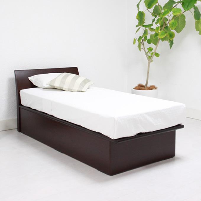 ガス圧式 収納ベッド シングル ハイタイプリフトアップベッド ガスハッチベッド Fネイビス【BED ベッド ベット 収納ベット 大容量 シングルサイズ】