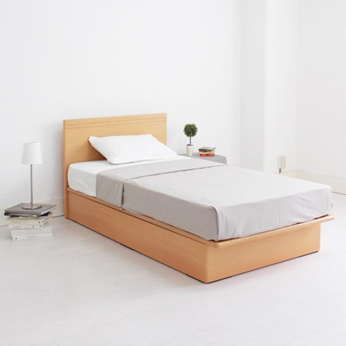 ガス圧式 収納ベッド シングルリフトアップベッド ガスハッチベッド Fネイビス【BED ベッド ベット 収納ベット 大容量 シングルサイズ】