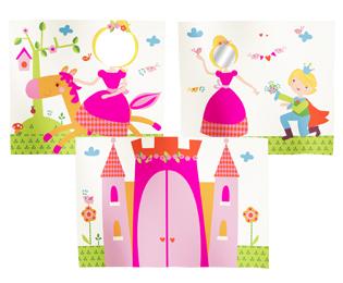 子供ベッド用カーテン プリンセス(3枚セット)カーテン/姫/カラフル/仕切り/子供家具/北欧/デザイナーズ/ファブリック